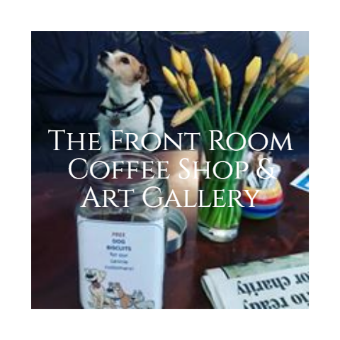 The Front Room is our coffee shop area where we sell a range of teas, coffees and snacks made from fair trade, ethical and organic ingredients.  Free From and Vegan options available.